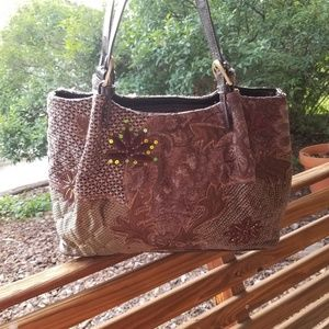 Brown Bueno Tapestry Shoulder Purse
